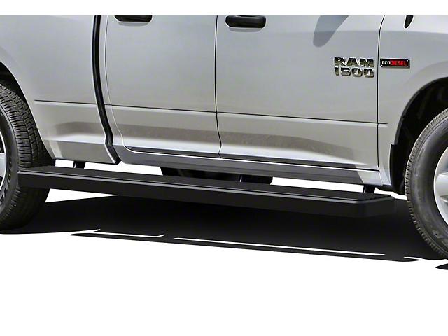 6-Inch iStep Wheel-to-Wheel Running Boards; Black (09-18 RAM 1500 Quad Cab)