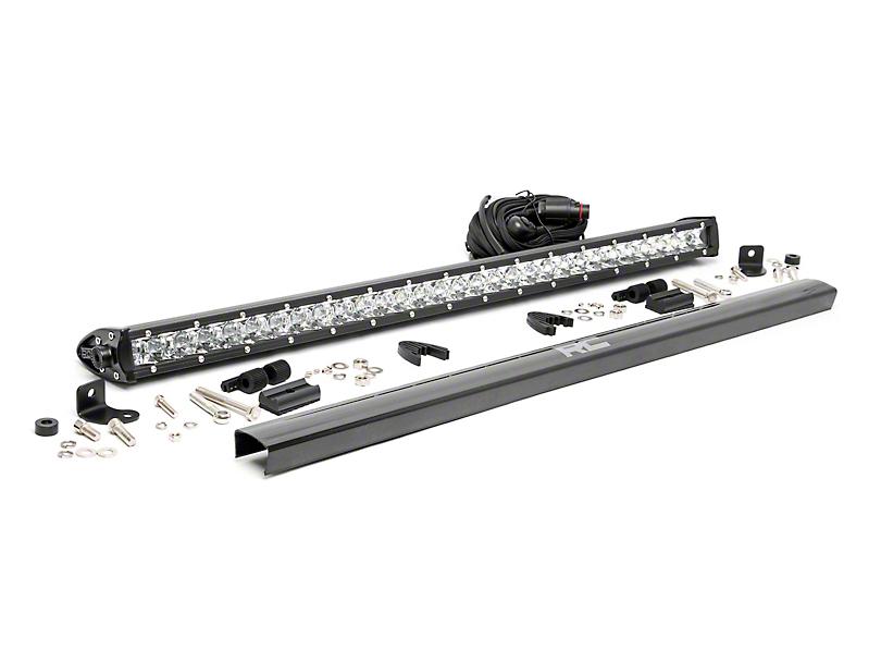 Rough Country 30 in. Chrome Series Single Row LED Light Bar - Spot Beam