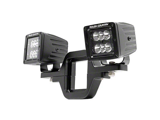Rough Country Hitch Mount Black Series LED Light Kit; Spot Beam (Universal Fitment)