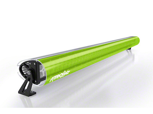 AeroX 32 Inch LED Light Bar Cover Transparent Insert; Lime Green
