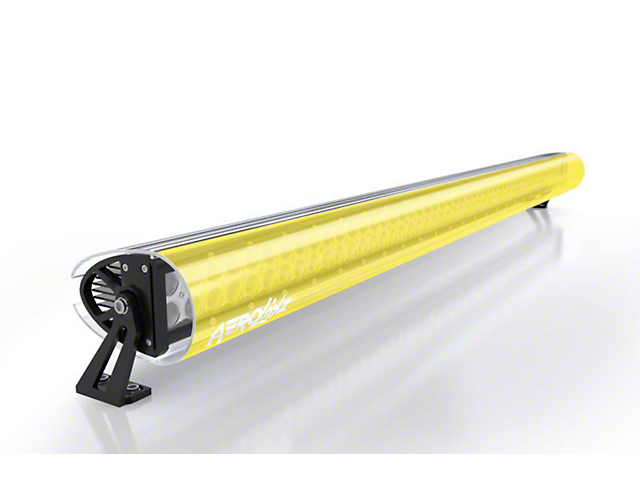 AeroX 52 Inch LED Light Bar Cover Transparent Insert; Yellow