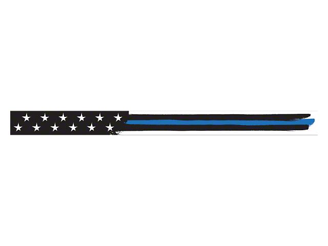 52-Inch LED Light Bar Cover Insert; Blue Thin Stripe American Flag