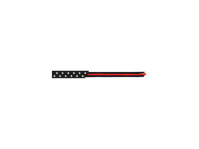 52-Inch LED Light Bar Cover Insert; Red Thin Stripe American Flag