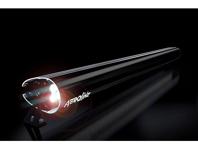 AeroX 52 Inch LED Light Bar Cover Transparent Insert; Black