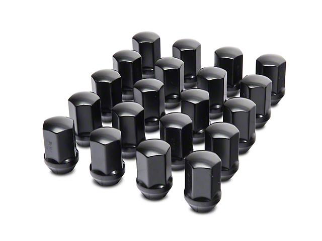 Black OEM Style Lug Nut Kit; 7/8-inch Hex; 9/16-Inch Thread; Set of 20 (02-11 RAM 1500)