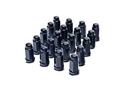 Black XL Acorn Lug Nut Kit; 14mm x 1.5; Set of 24 (19-21 RAM 1500)