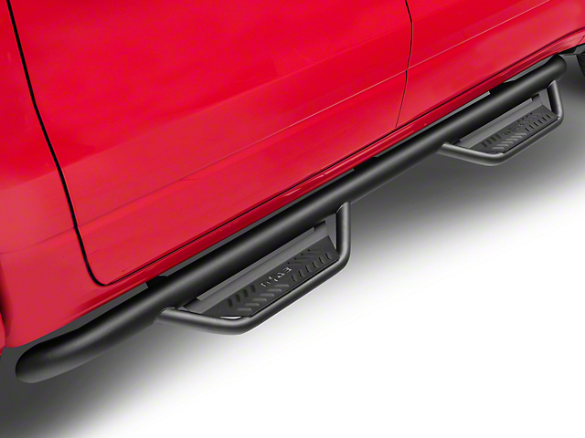 N-Fab Cab Length Podium Nerf Side Step Bars - Textured Black (19-20 RAM 1500 Crew Cab)