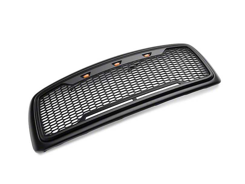 Dark Forest Baja Upper Replacement Grille w/ LED Lighting - Matte Black (02-05 RAM 1500)