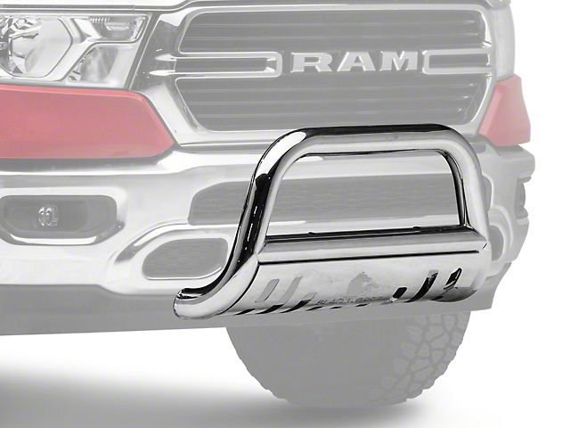 Bull Bar with Skid Plate; Stainless Steel (19-21 RAM 1500, Excluding Rebel & TRX)