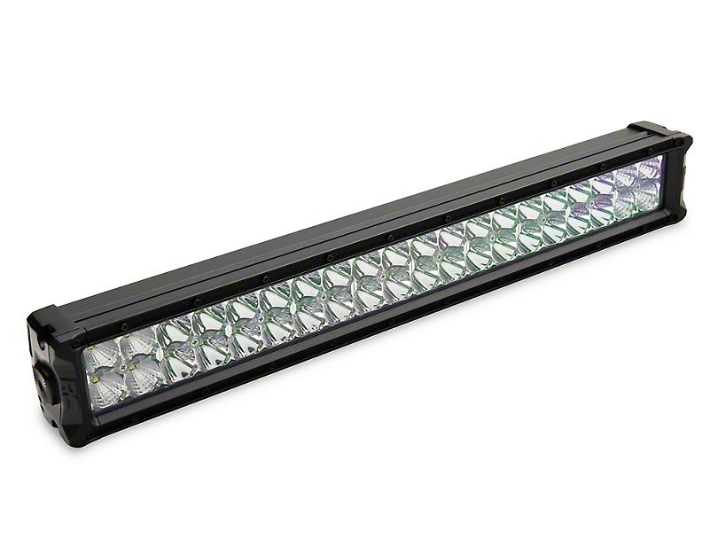 Rough Country 20 in. Chrome Series LED Light Bar Hidden Bumper Kit w/ Amber Daytime Running Light (2019 RAM 1500, Excluding Rebel)