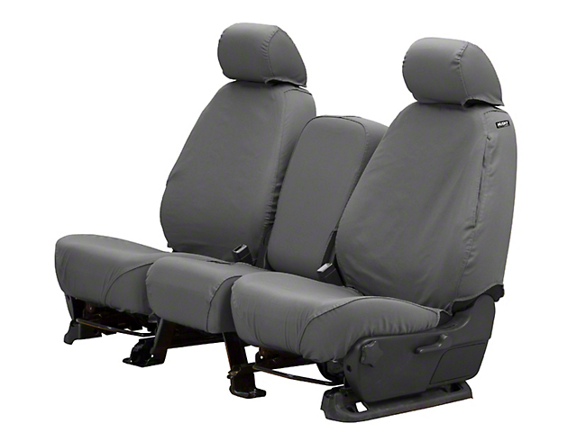 Husky Heavy Duty Front Row Seat Cover; Charcoal (13-18 RAM 1500 w/ Bench Seat)
