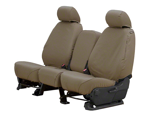 Husky Heavy Duty Front Row Seat Cover; Taupe (13-18 RAM 1500 w/ Bench Seat)