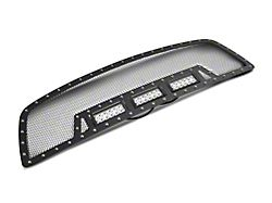 RedRock 4x4 Wire Mesh Upper Replacement Grille with LED Lighting; Black (09-12 RAM 1500)