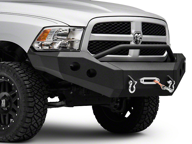 DV8 Off-Road Recovery Front Bumper w/ Bull Bar (13-15 RAM 1500, Excluding Rebel)