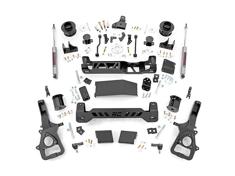 Rough Country 5 in. Suspension Lift Kit (19-20 4WD RAM 1500 w/ Air Ride, Excluding Rebel)