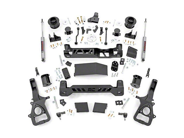 Rough Country 5 Inch Suspension Lift Kit (19-20 4WD RAM 1500 w/ Air Ride, Excluding Rebel)