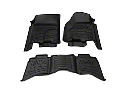 Alterum Sure-Fit Front and Second Row Floor Liners; Black (13-18 RAM 1500 Crew Cab)