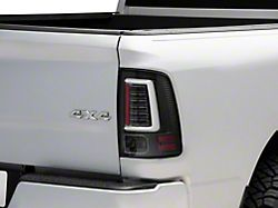 LED Tail Lights; All Black Housing; Clear Lens (09-18 RAM 1500 w/o Factory LED Tail Lights)