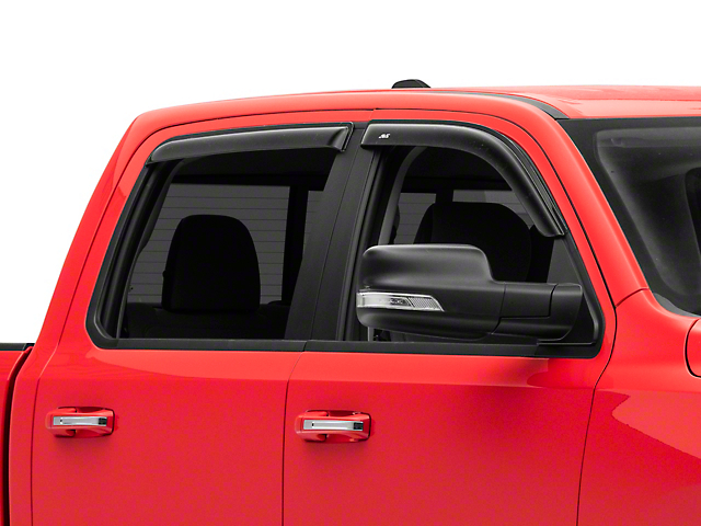 Ventvisor Window Deflectors; Front and Rear; Dark Smoke (19-21 RAM 1500 Crew Cab)