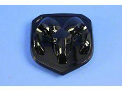 Mopar RAM Head Grille Emblem; Black (13-18 RAM 1500)