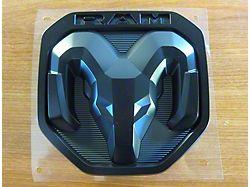 Mopar RAM Head Tailgate Emblem; Black (19-21 RAM 1500)