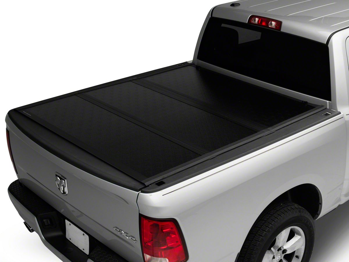 Rough Country Ram 1500 Low Profile Hard Tri Fold Tonneau Cover R110916 09 18 Ram 1500 W 5 7 Ft 6 4 Ft Box W O Ram Box