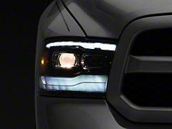 PRO-Series Projector Headlights; Jet Black Housing; Clear Lens (09-18 RAM 1500 w/o Factory Projector Headlights)