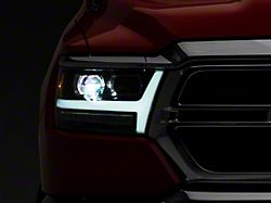 PRO-Series Projector Headlights; Matte Black Housing; Clear Lens (19-21 RAM 1500 w/ Factory Halogen Headlights)