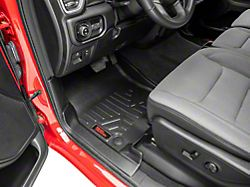 Rough Country Heavy Duty Front and Rear Floor Mats; Black (19-21 RAM 1500 Crew Cab w/ Factory Under Seat Storage)