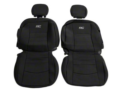 Rough Country Ram 1500 Neoprene Front And Rear Seat Covers Black 91029 09 18 Ram 1500 Crew Cab W Bucket Seats