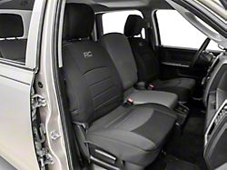 Rough Country Neoprene Front Seat Covers; Black (09-18 RAM 1500 w/ Bucket Seats)