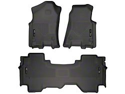 Husky WeatherBeater Front and Second Seat Floor Liners; Black (19-21 RAM 1500 Quad Cab)
