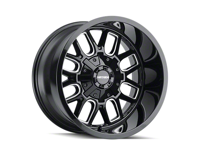 Mayhem Wheels Cogent Gloss Black Milled 5-Lug Wheel; 20x9; 0mm Offset (07-13 Tundra)