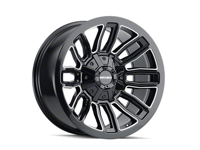 Mayhem Wheels Decoy Gloss Black Milled 5-Lug Wheel; 20x10; -19mm Offset (14-21 Tundra)