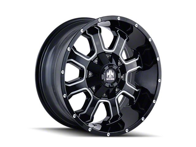 Mayhem Wheels Fierce Gloss Black Milled 5-Lug Wheel; 20x9; 0mm Offset (14-21 Tundra)