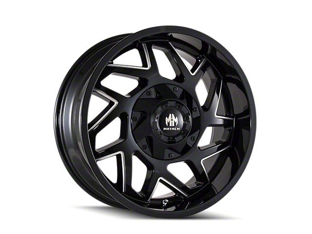 Mayhem Wheels Hatchet Gloss Black Milled 5-Lug Wheel; 20x10; -19mm Offset (07-13 Tundra)