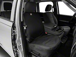 Weathertech Front Seat Protector; Black (02-21 RAM 1500 w/ Bucket Seats)