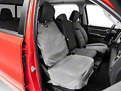 Weathertech Front Seat Protector; Gray (02-21 RAM 1500 w/ Bucket Seats)
