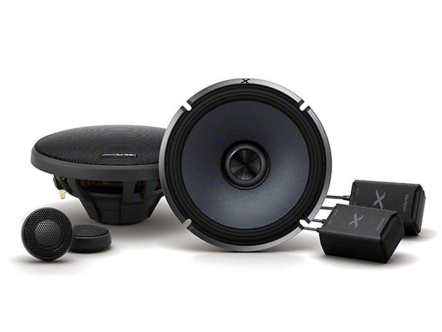 Alpine X-Series Component 2-Way Speakers; 120W; 6.50-Inch (Universal Fitment)