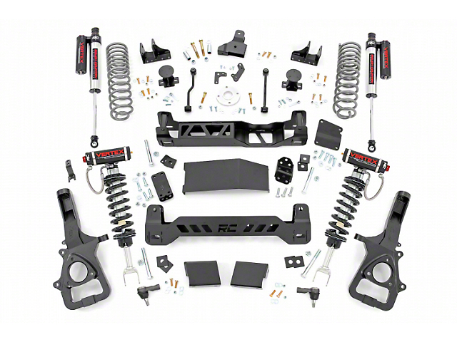 Rough Country 6-Inch Suspension Lift Kit with Adjustable Vertex Coil-Overs and Vertex Reservoir Shocks (19-21 4WD RAM 1500 w/o Air Ride, Excluding TRX)