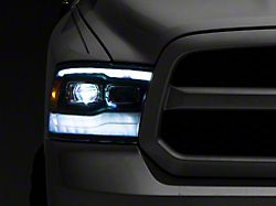 LUXX-Series LED Projector Headlights; Black Housing; Clear Lens (13-18 RAM 1500 w/ Factory Projector Headlights)