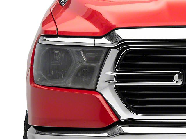 Headlight Covers; Carbon Fiber Look (19-21 RAM 1500 Big Horn, Laramie, Rebel, Tradesman)