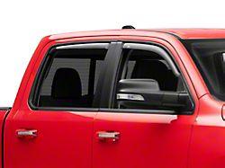 In-Channel Ventvisor Window Deflectors; Front and Rear; Dark Smoke (19-21 RAM 1500 Crew Cab)