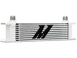 Mishimoto Universal 10-Row Oil Cooler; White (Universal; Some Adaptation May Be Required)