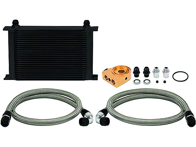 Mishimoto Universal 25-Row Thermostatic Oil Cooler Kit; Black (Universal; Some Adaptation May Be Required)