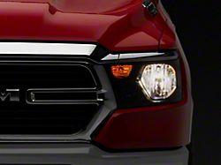 OE Night Edition Headlight; Black Housing; Clear Lens; Driver Side (19-21 RAM 1500 Big Horn, Tradesman)