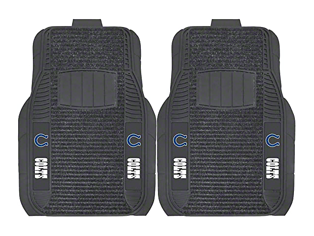 Molded Front Floor Mats with Indianapolis Colts Logo (Universal Fitment)