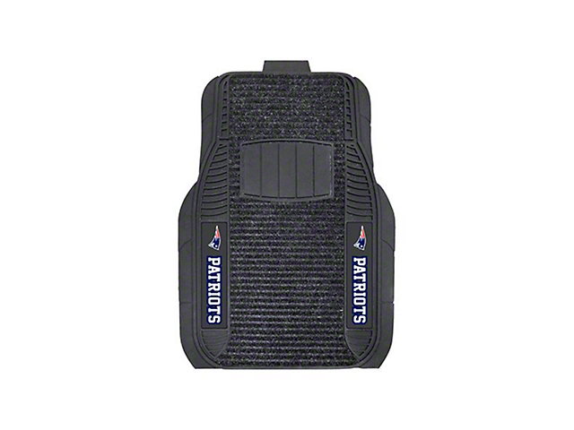 Molded Front Floor Mats with New England Patriots Logo (Universal Fitment)