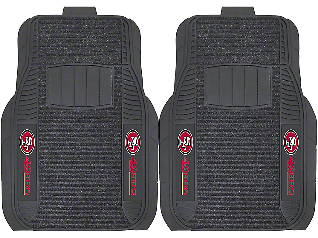 Molded Front Floor Mats with San Francisco 49ers Logo (Universal Fitment)