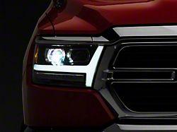 LUXX-Series LED Projector Headlights; Jet Black Housing; Clear Lens (19-21 RAM 1500 w/ Factory Halogen Headlights)